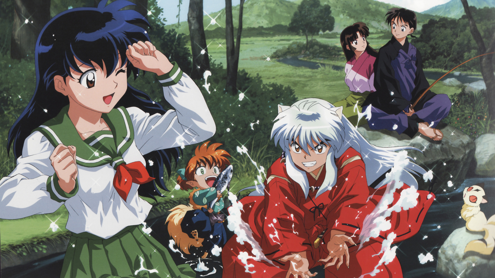demons inuyasha kirara kagome HD Wallpaper