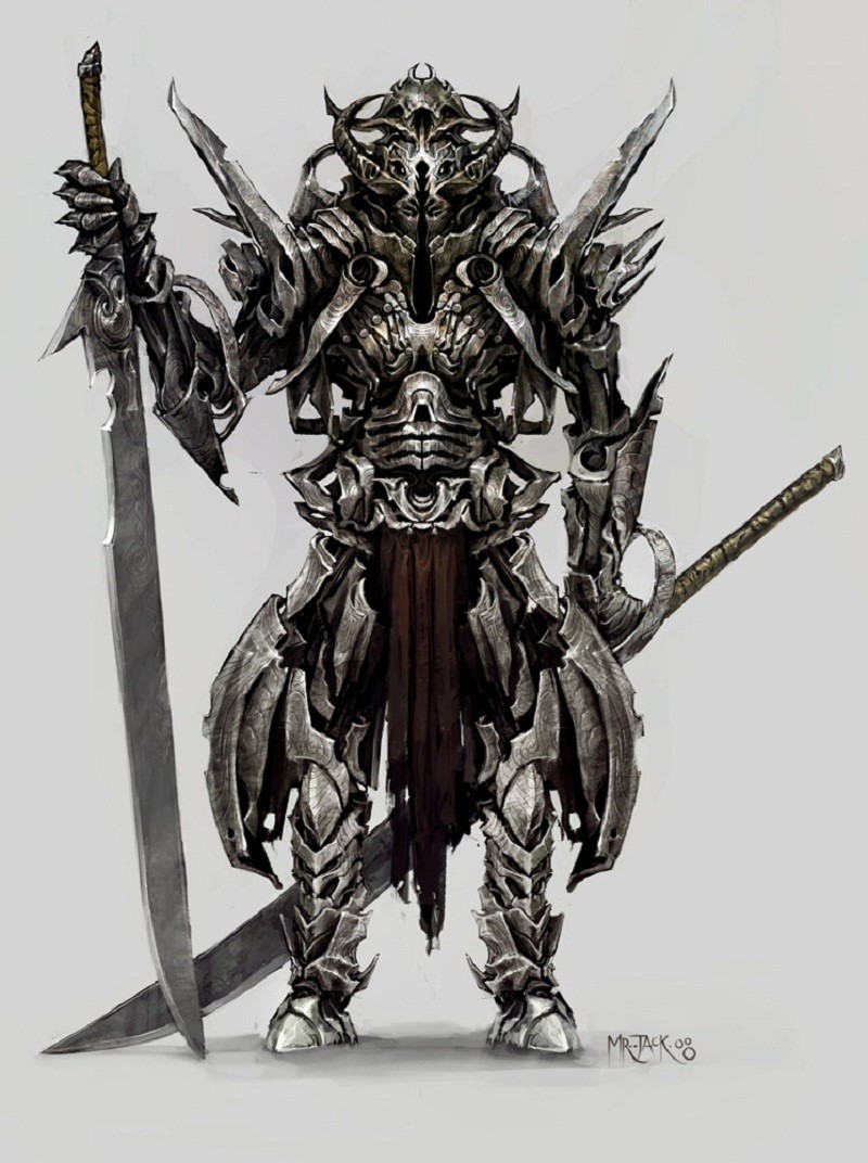 demons samurai weapons armor HD Wallpaper