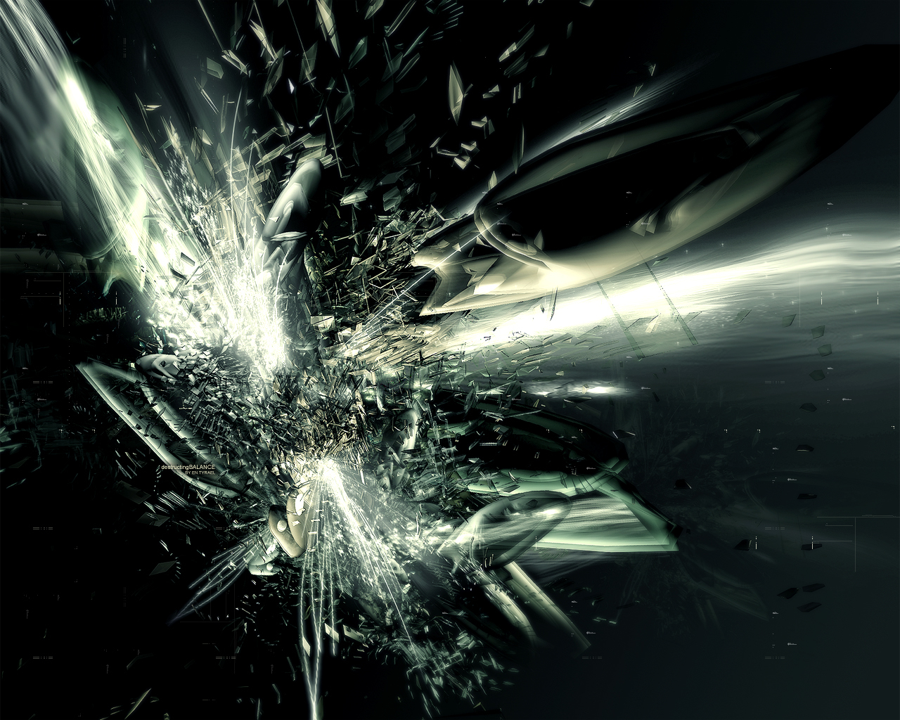 destructing balance abstract HD Wallpaper