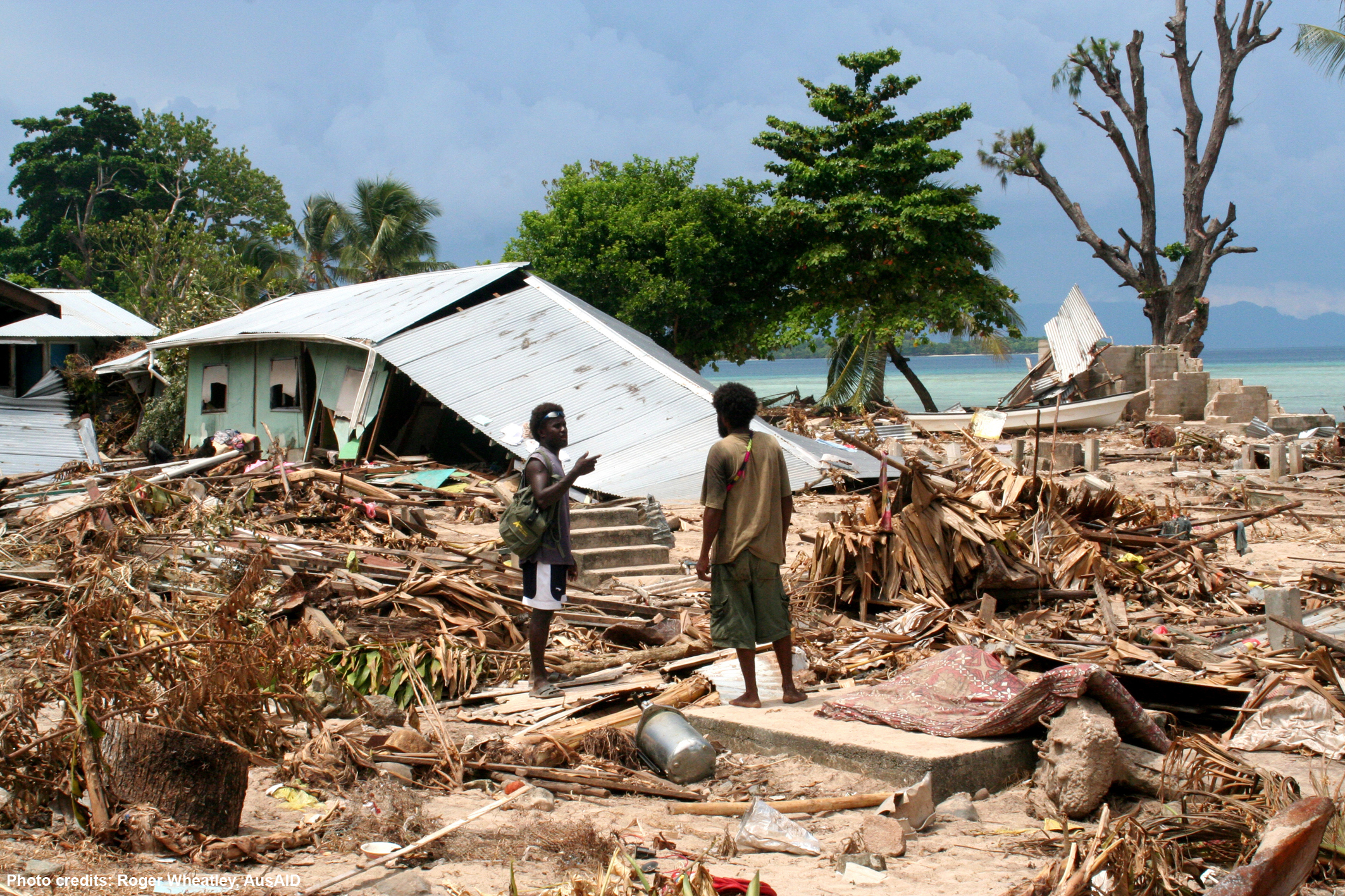 destruction tsunami Solomon Islands HD Wallpaper