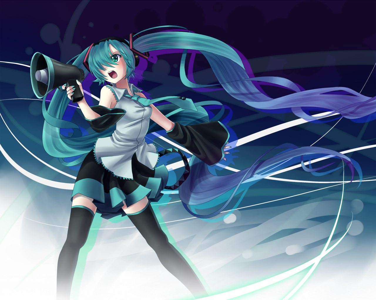 detached sleeves Anime vocaloid HD Wallpaper