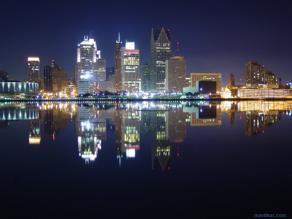 detroit City skyline HD Wallpaper