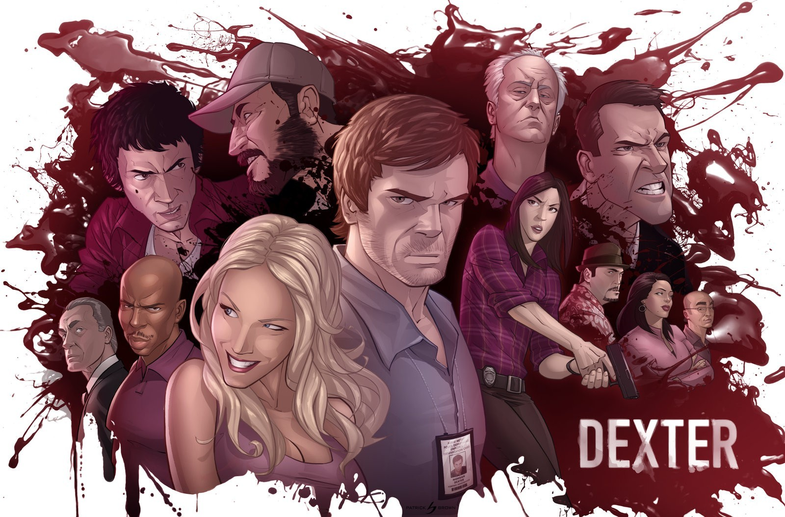 Dexter blood Patrick Brown HD Wallpaper