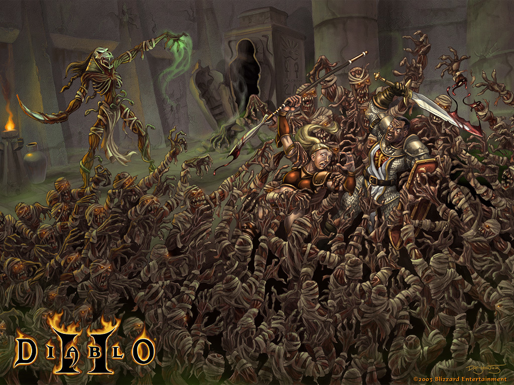 diablo Mummy attack Games HD Wallpaper