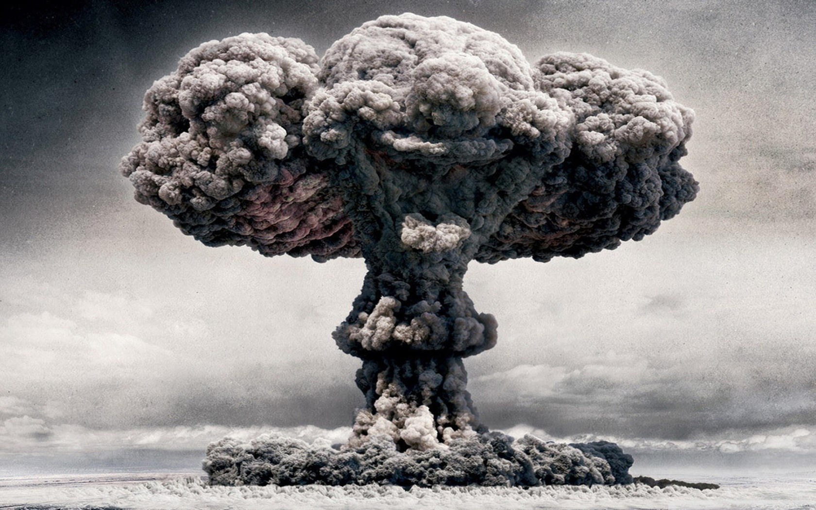 digital art atomic bomb HD Wallpaper