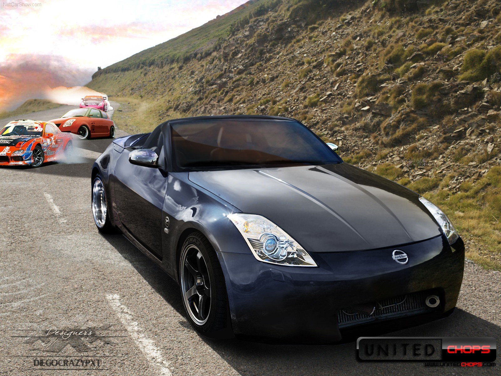 digital art tuning nissan HD Wallpaper