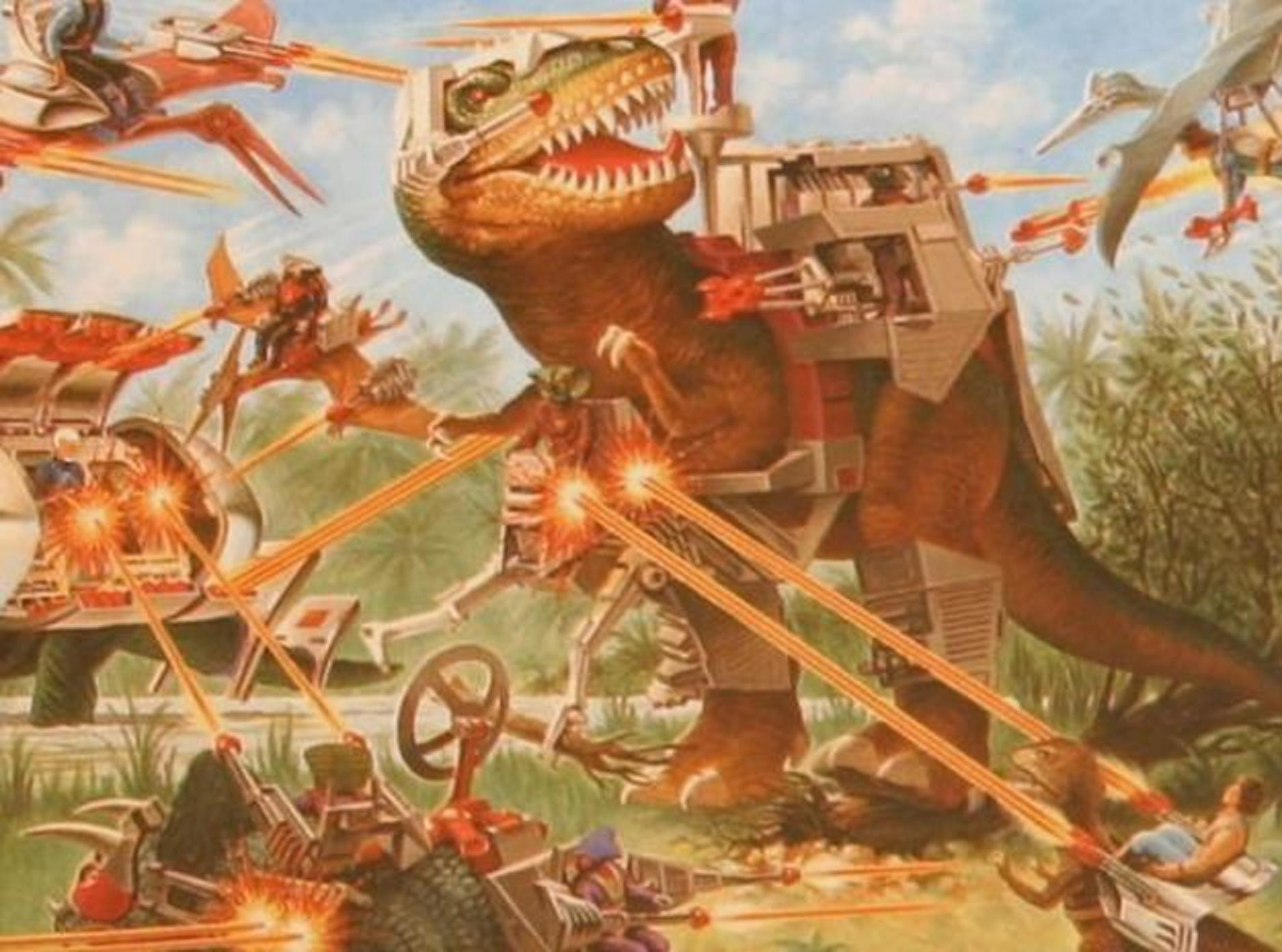 Dinosaurs Dino Riders Lasers HD Wallpaper