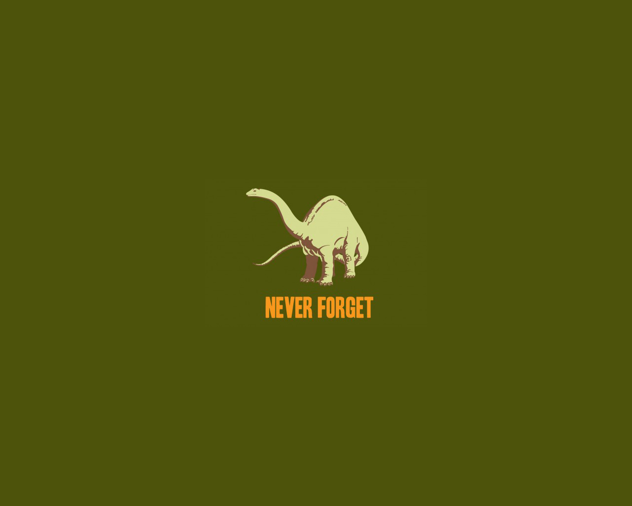 Dinosaurs never forget green
