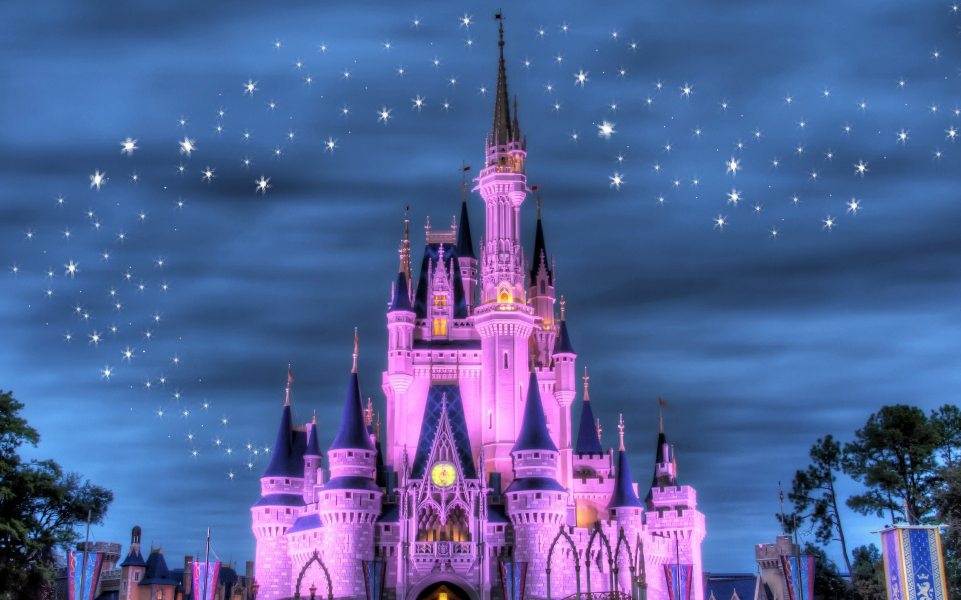 Disney Company Castles magical HD Wallpaper