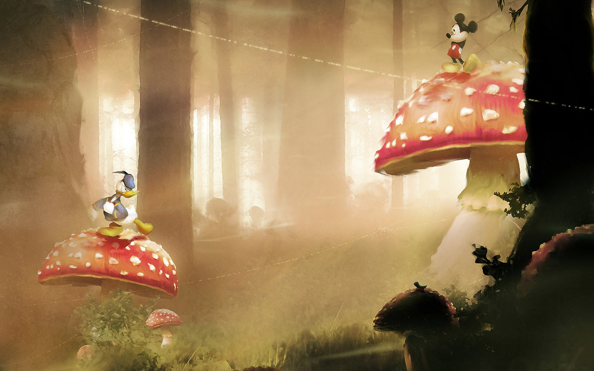 Disney Company mushrooms mickey HD Wallpaper