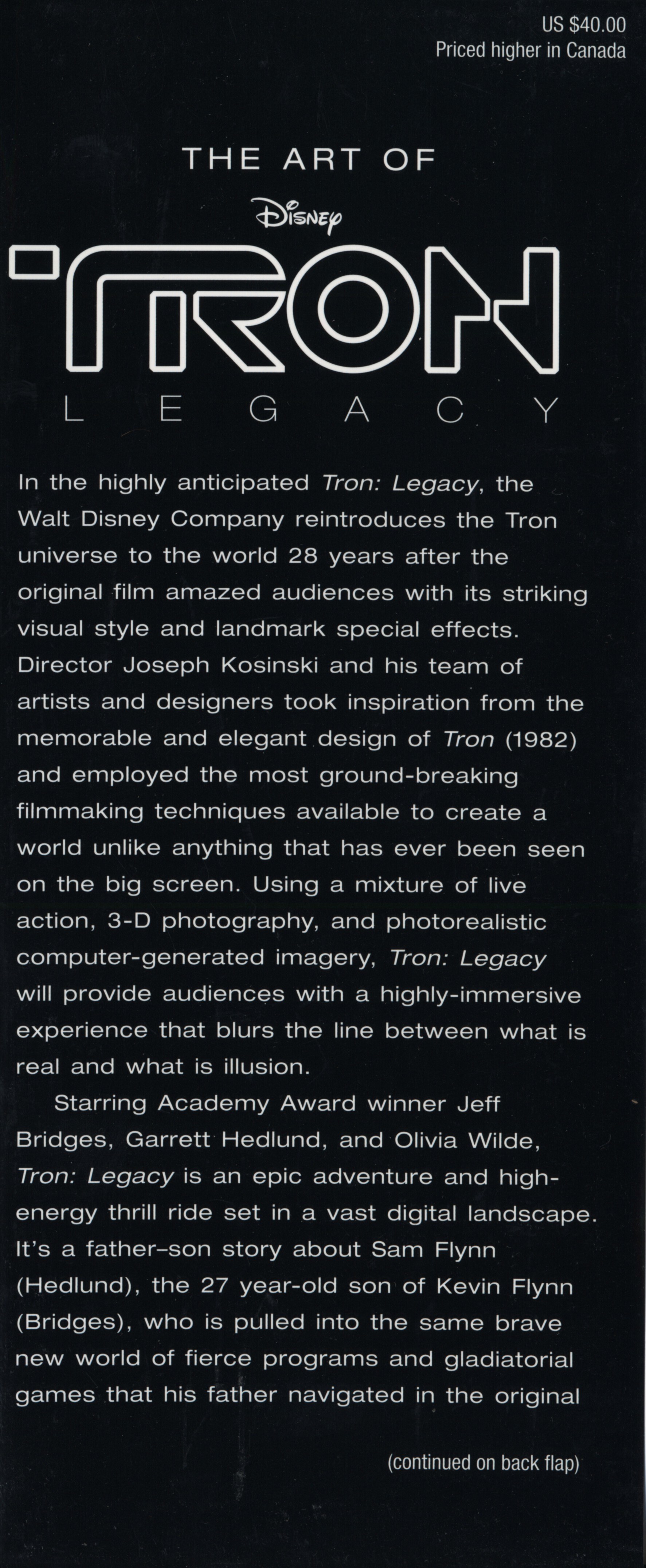 Disney Company text TRON: