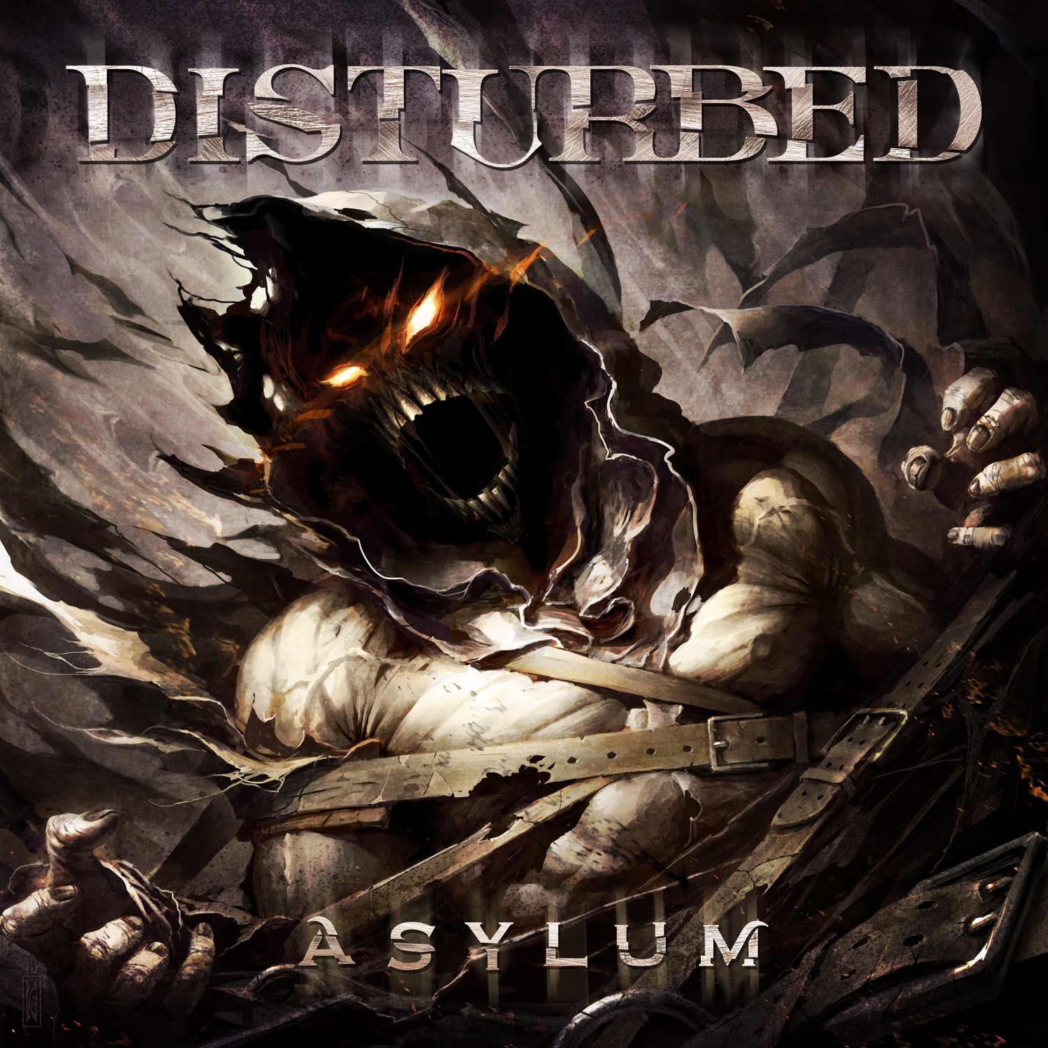 disturbed album covers asylum