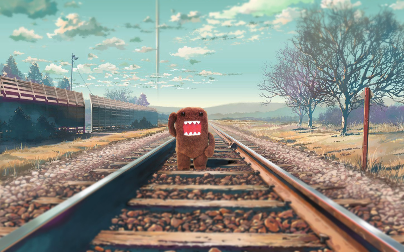 domo railroad tracks train HD Wallpaper