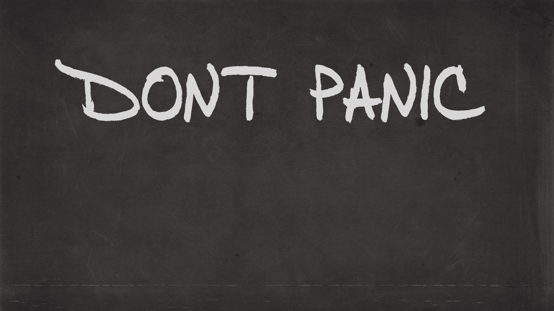 Don't Panic minimalistic graffiti HD Wallpaper