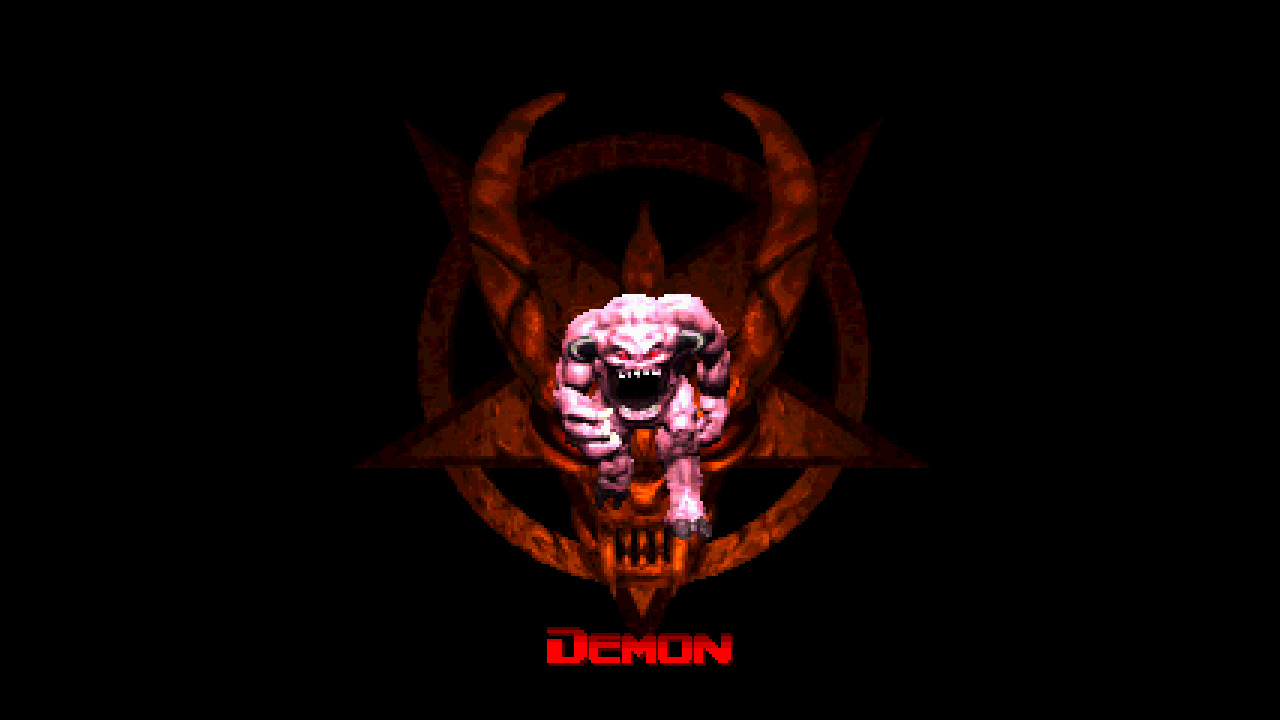 Doom nintendo satan black HD Wallpaper