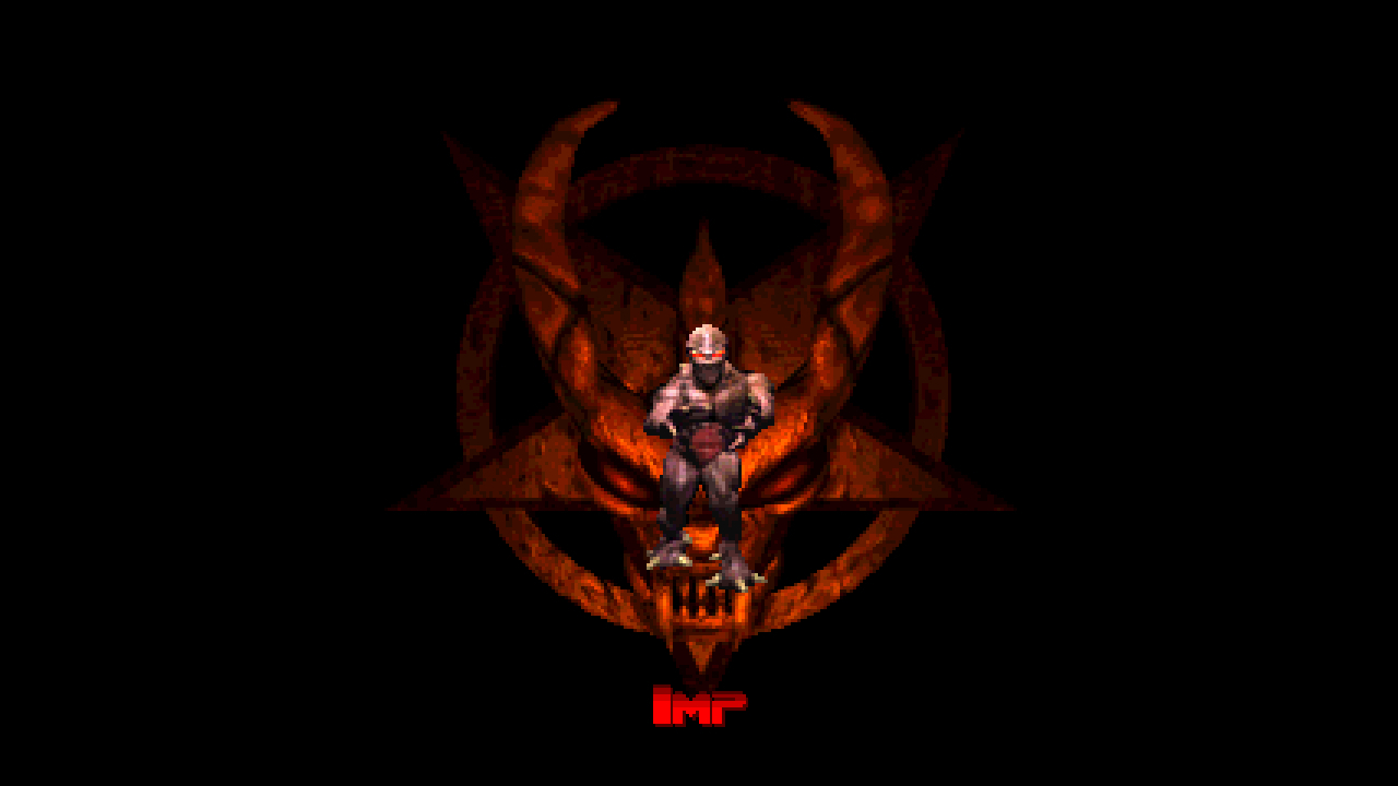 Doom satan black dark HD Wallpaper