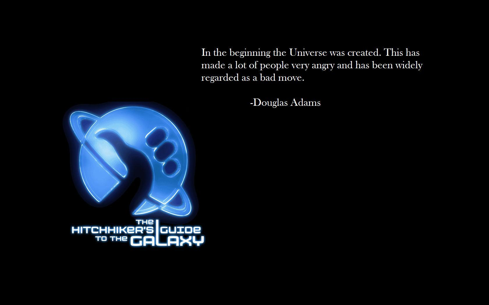 Douglas Adams The Hitchhikers HD Wallpaper