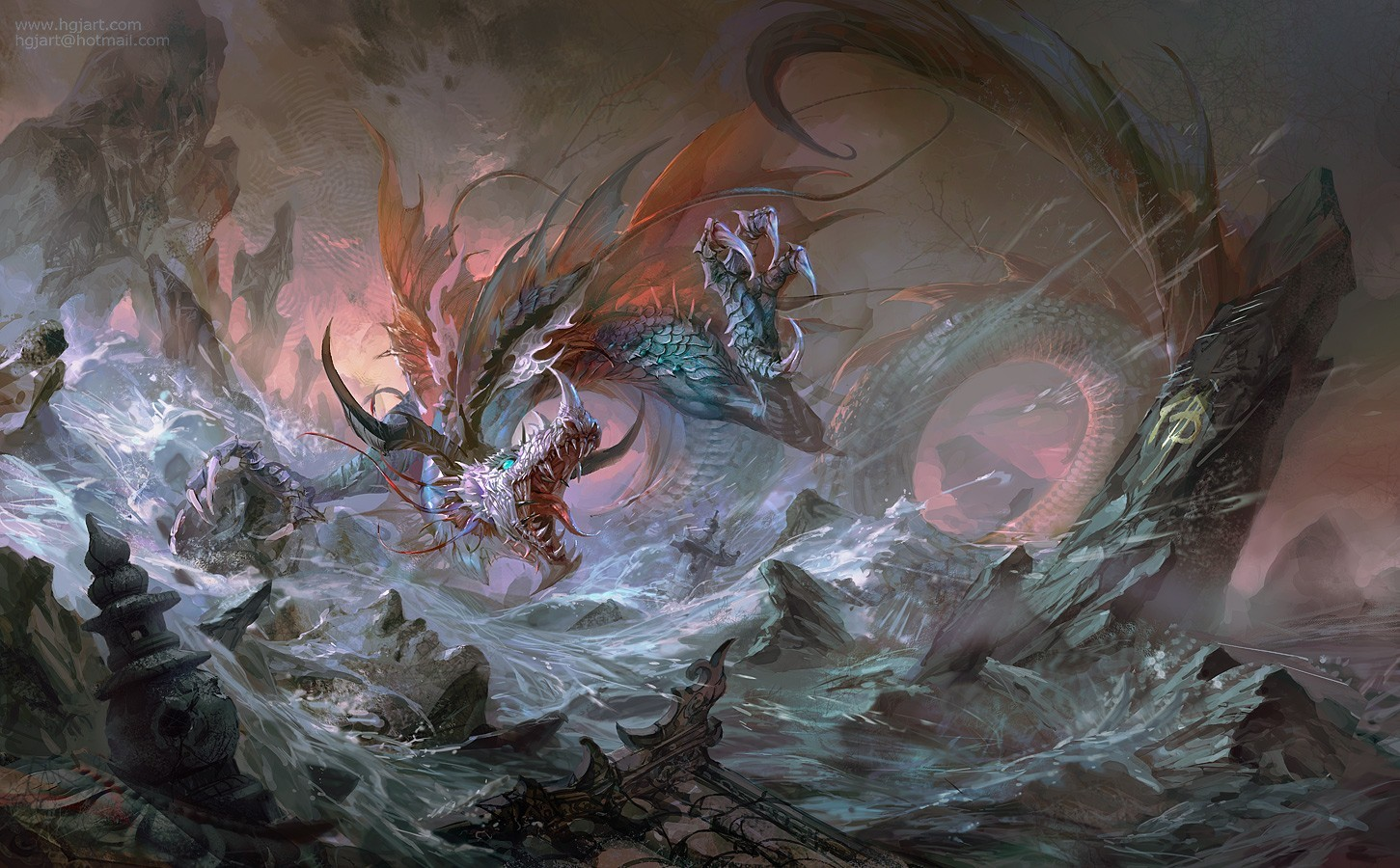 Dragons artwork Warriors Huang HD Wallpaper