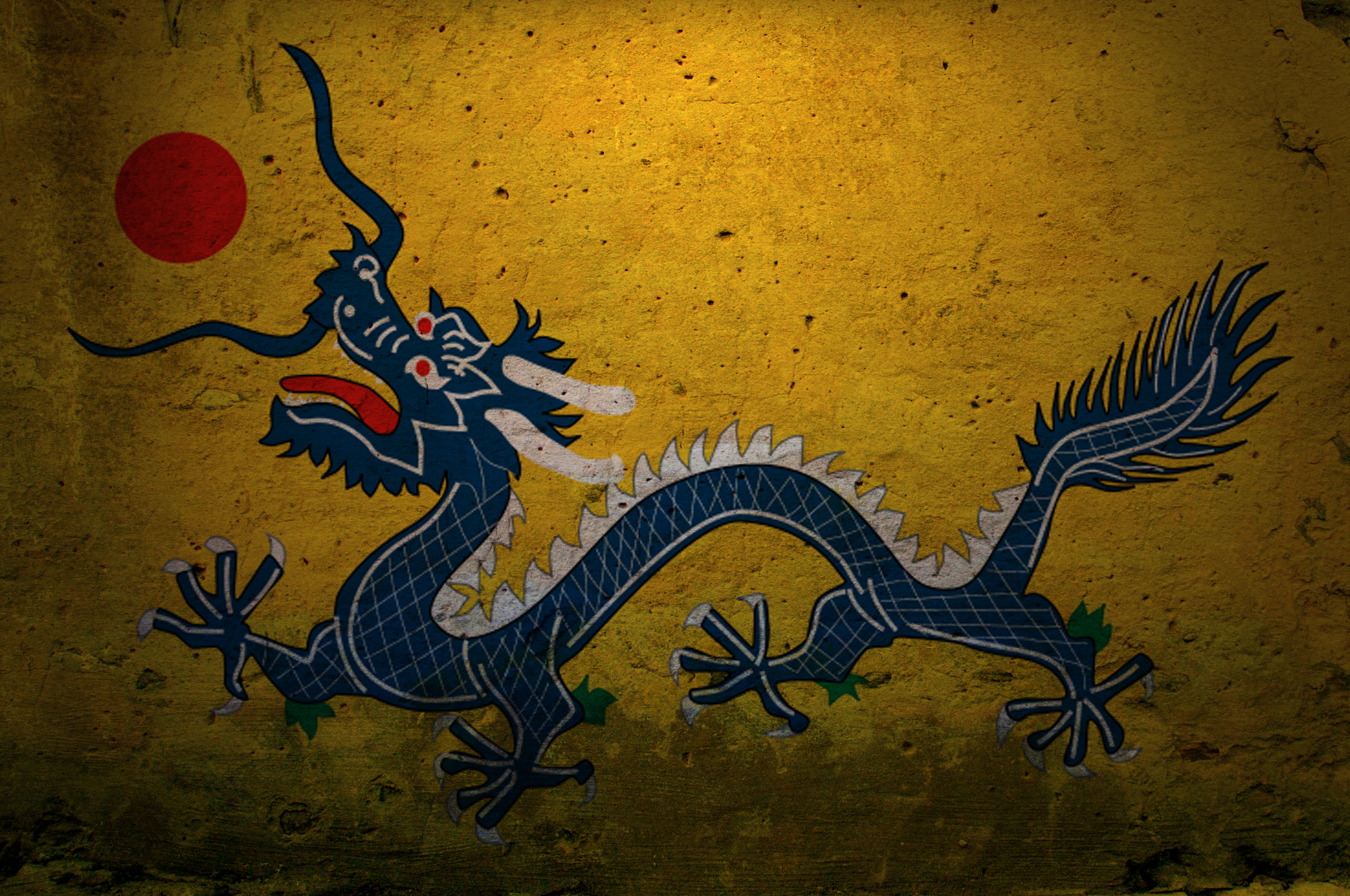 Dragons China graffiti