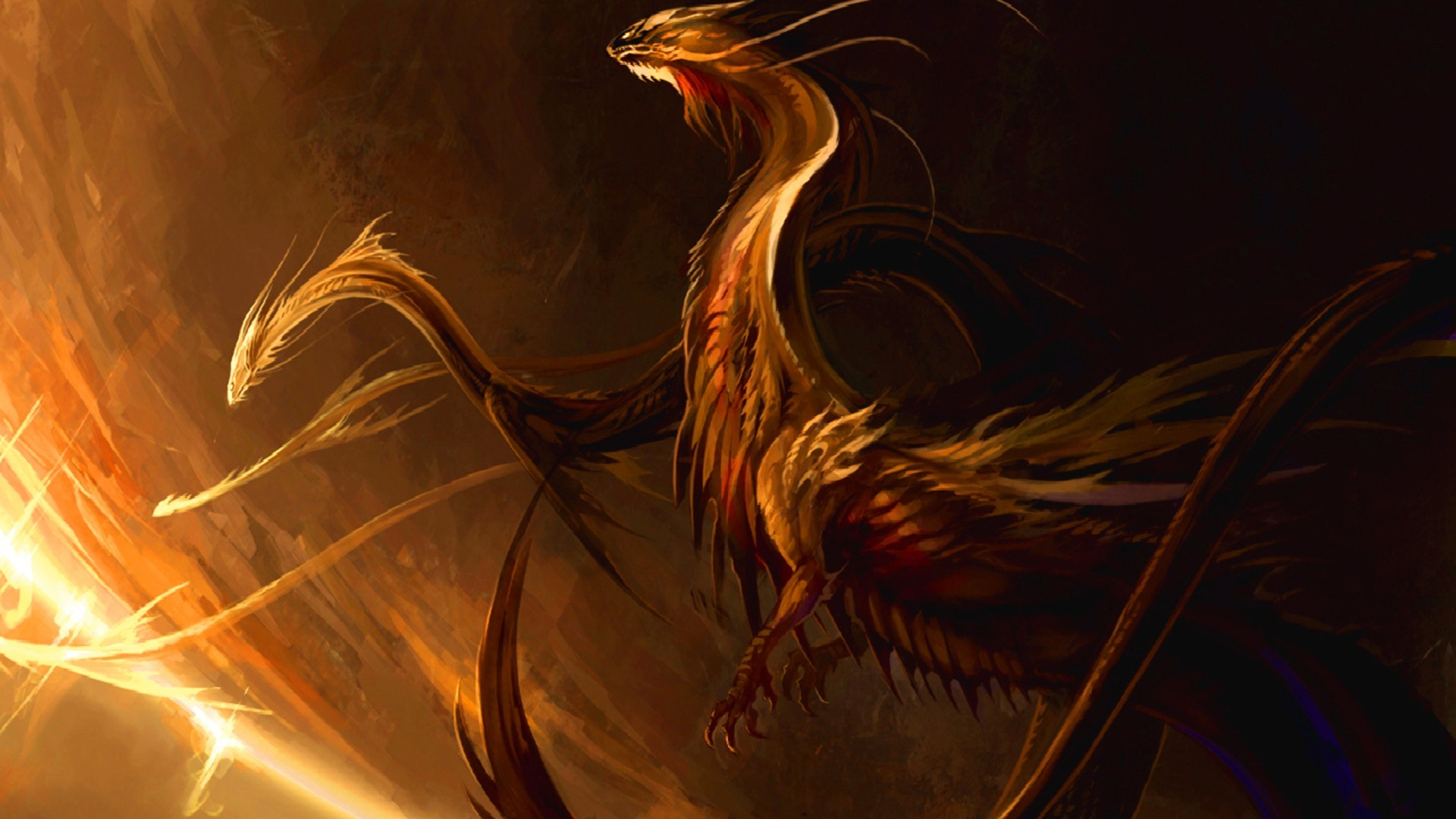 Dragons digital art 3d HD Wallpaper