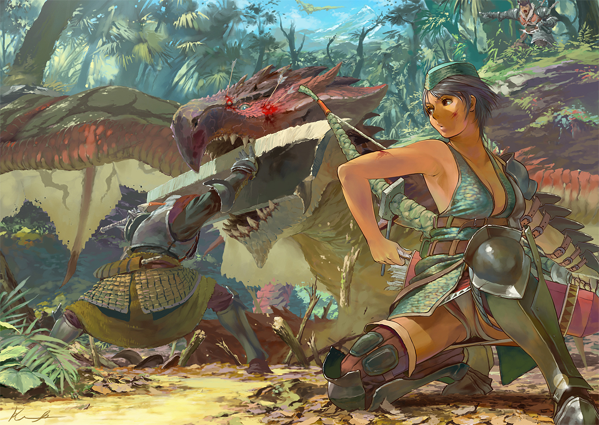 Dragons Monster Hunter scratches HD Wallpaper