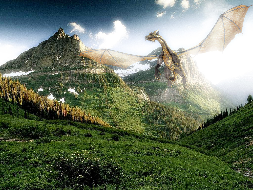 Dragons Photo manipulation HD Wallpaper
