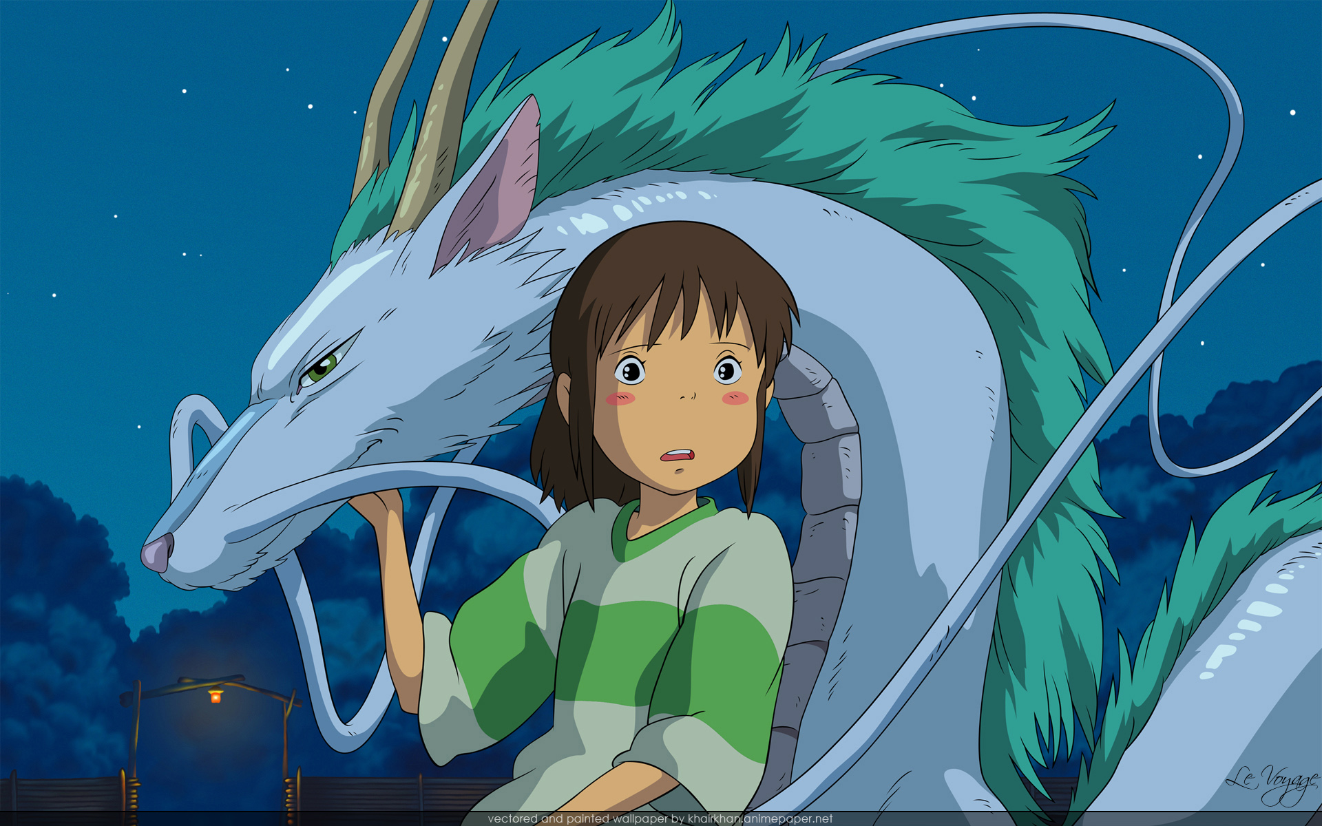 Dragons Spirited Away Ogino HD Wallpaper
