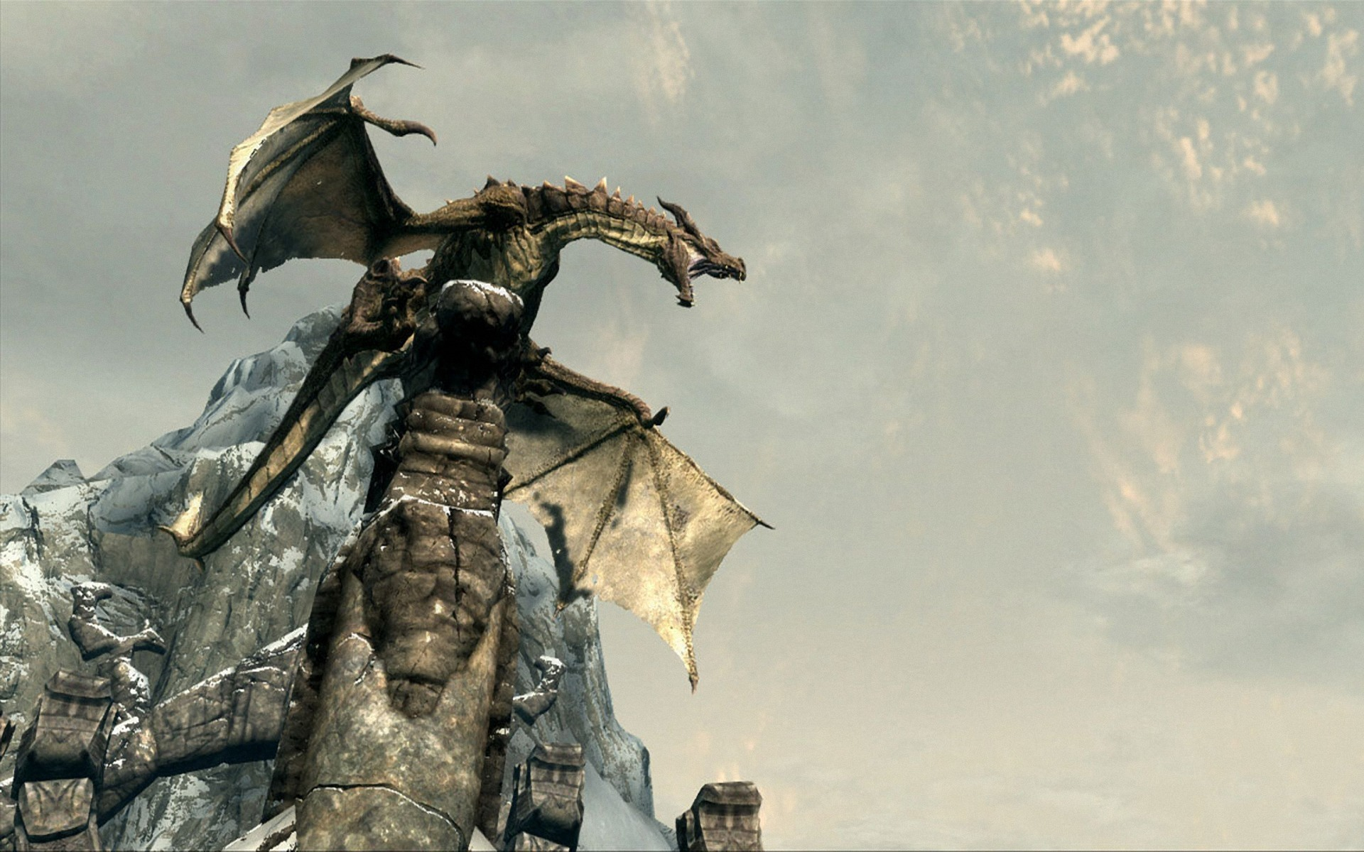 Dragons the elder scrolls HD Wallpaper