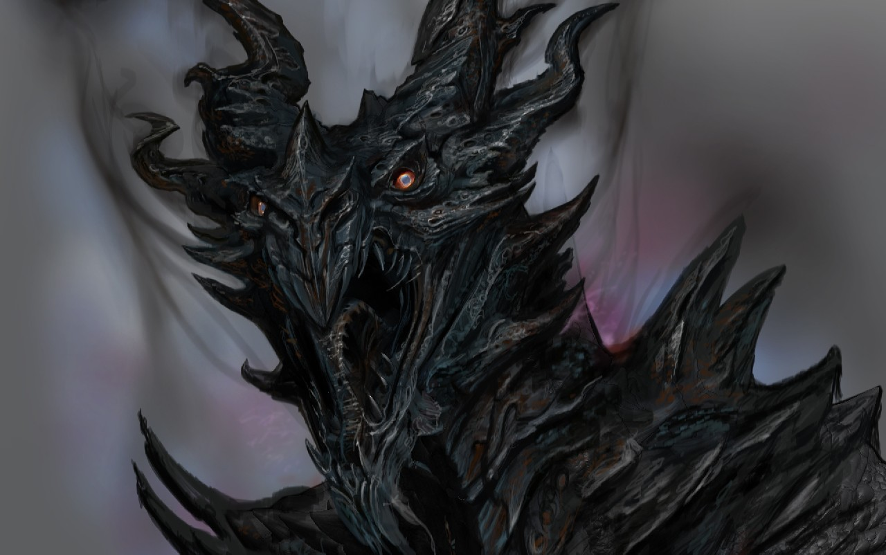 Dragons the elder scrolls v skyrim alduin HD Wallpaper