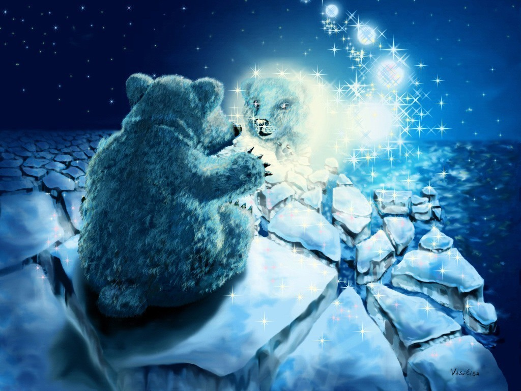 drawings Bears HD Wallpaper