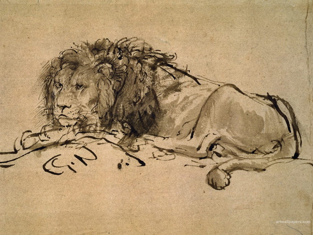 drawings rembrandt HD Wallpaper