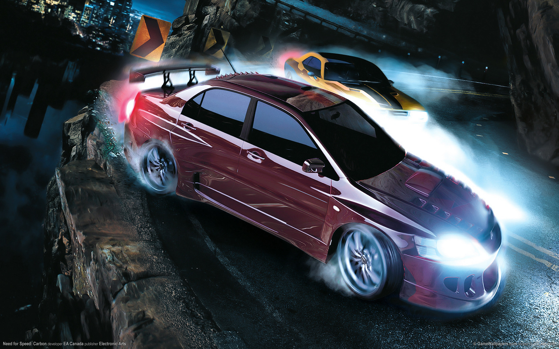 duel canyon nfs Carbon HD Wallpaper
