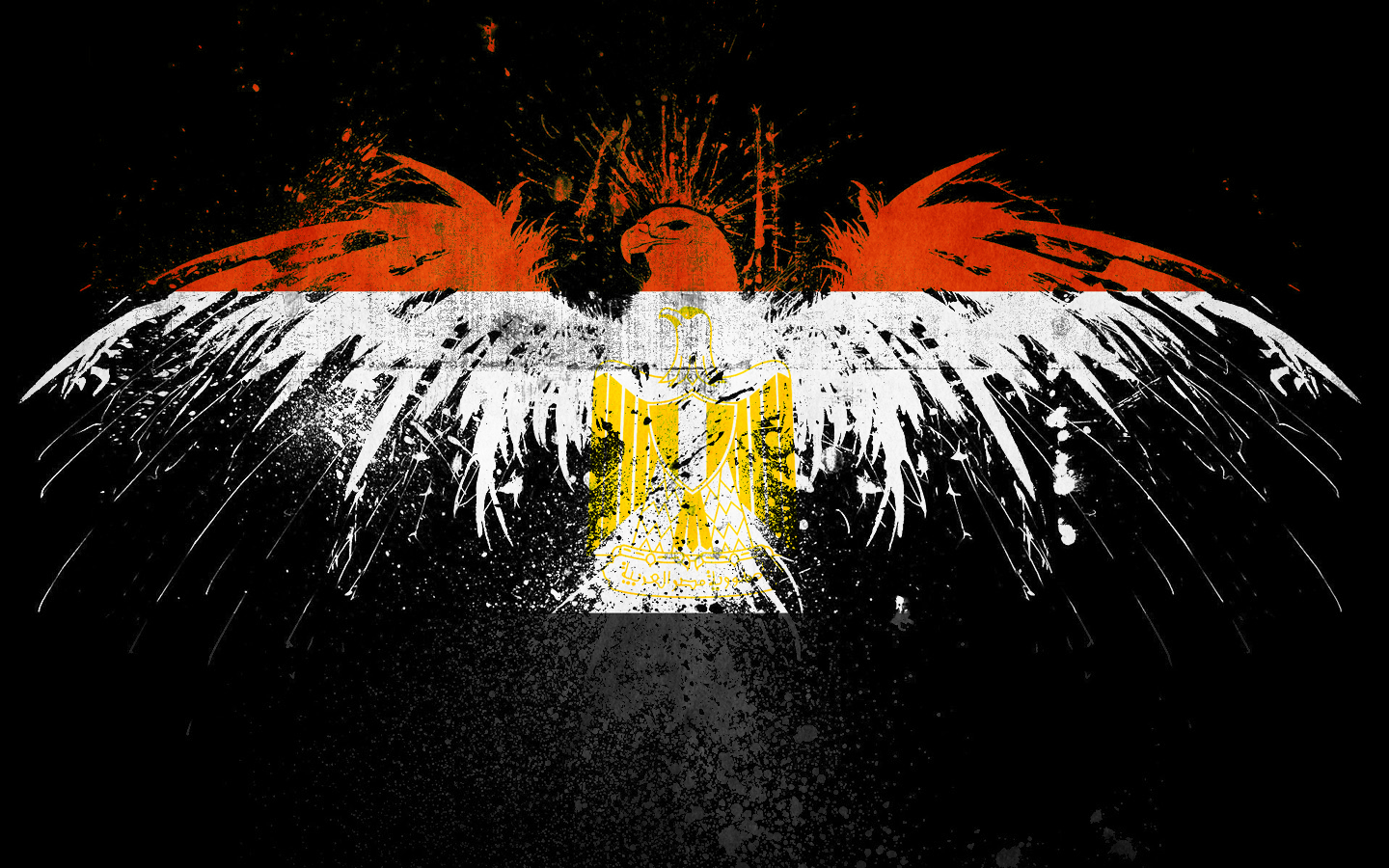 Eagles Flags Egypt HD Wallpaper