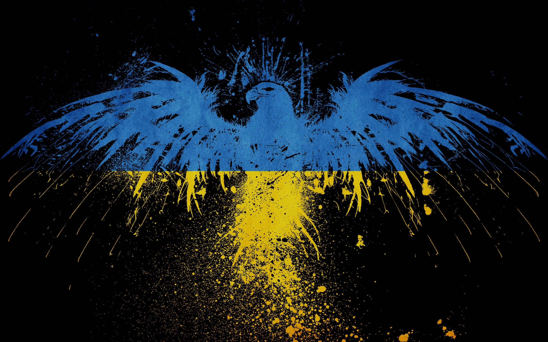 Eagles Flags Ukraine HD Wallpaper