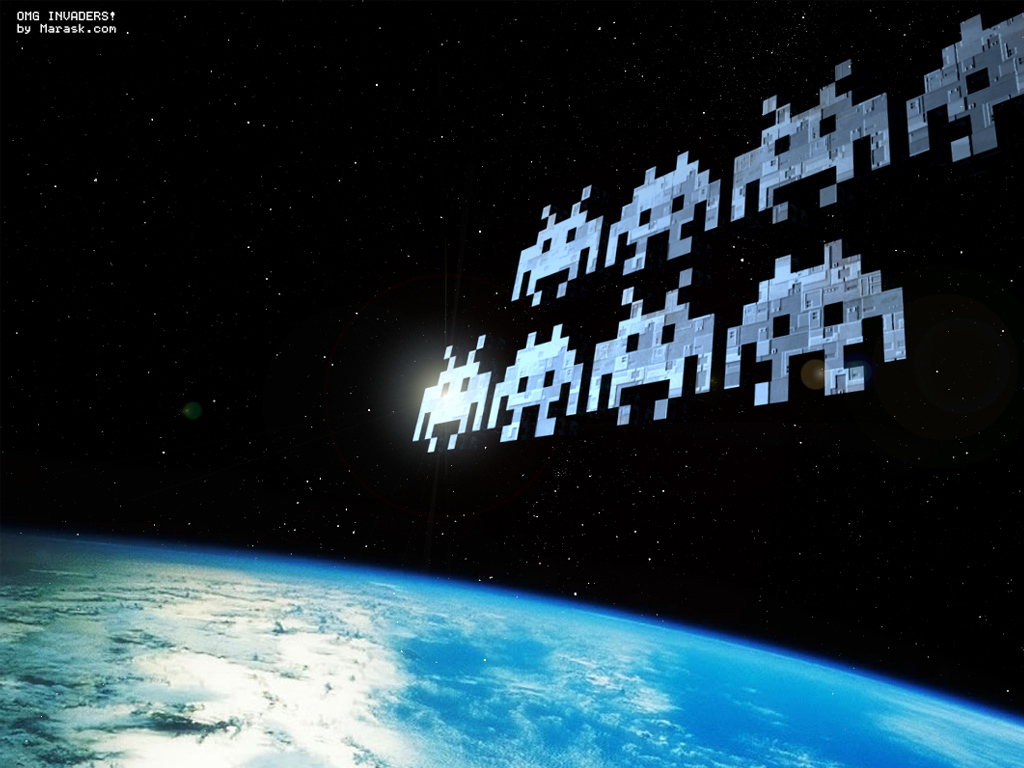 Earth Space Invaders HD Wallpaper