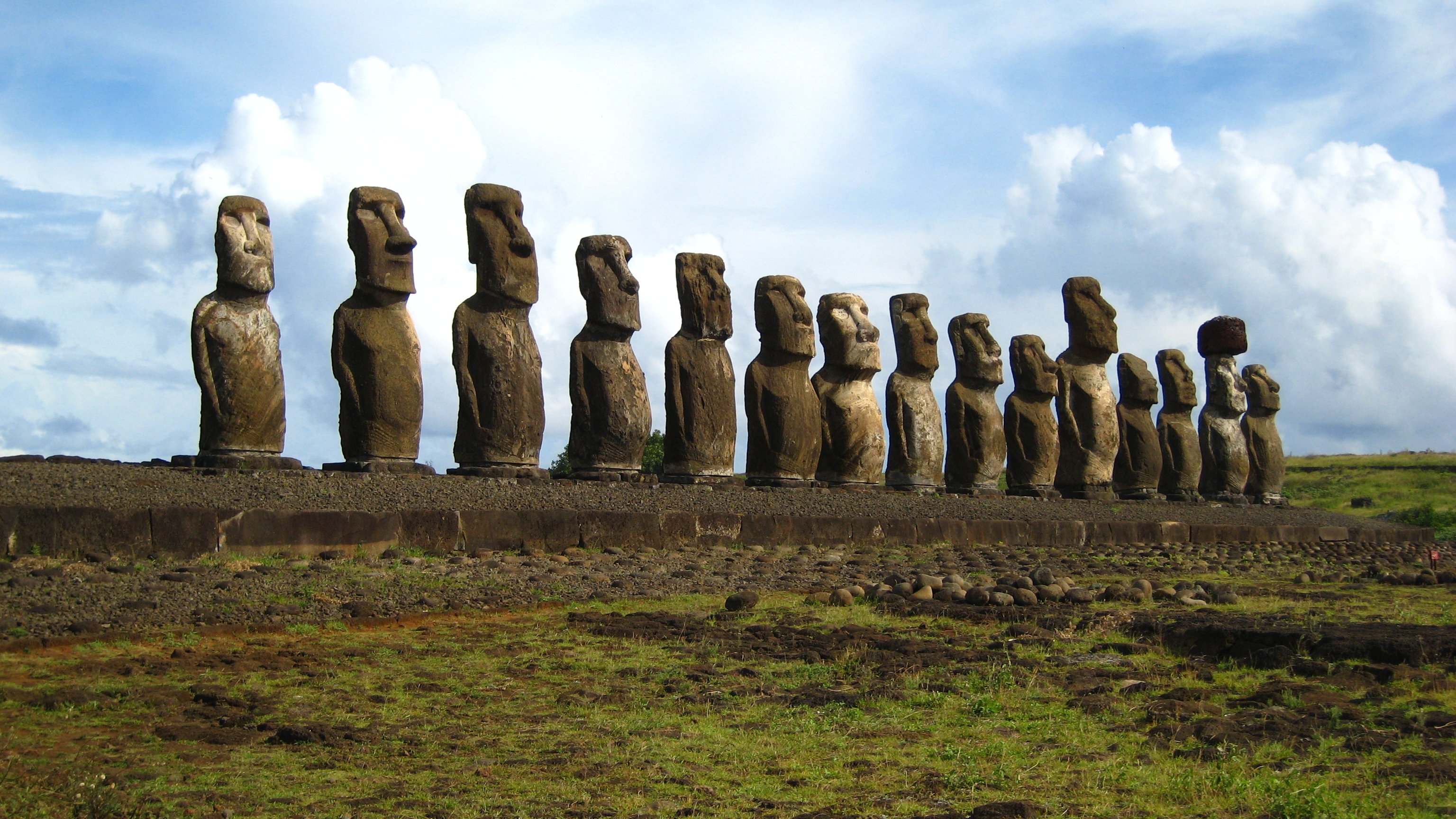 Easter Island moai HD Wallpaper