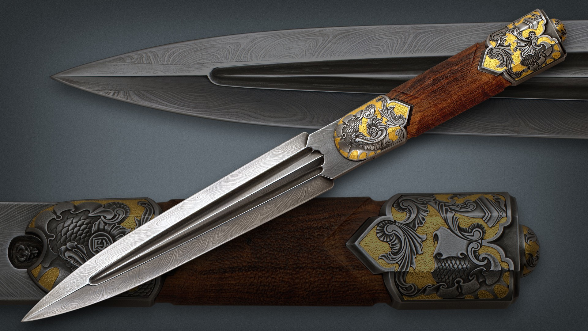 edge Knives Damascus Daggers HD Wallpaper