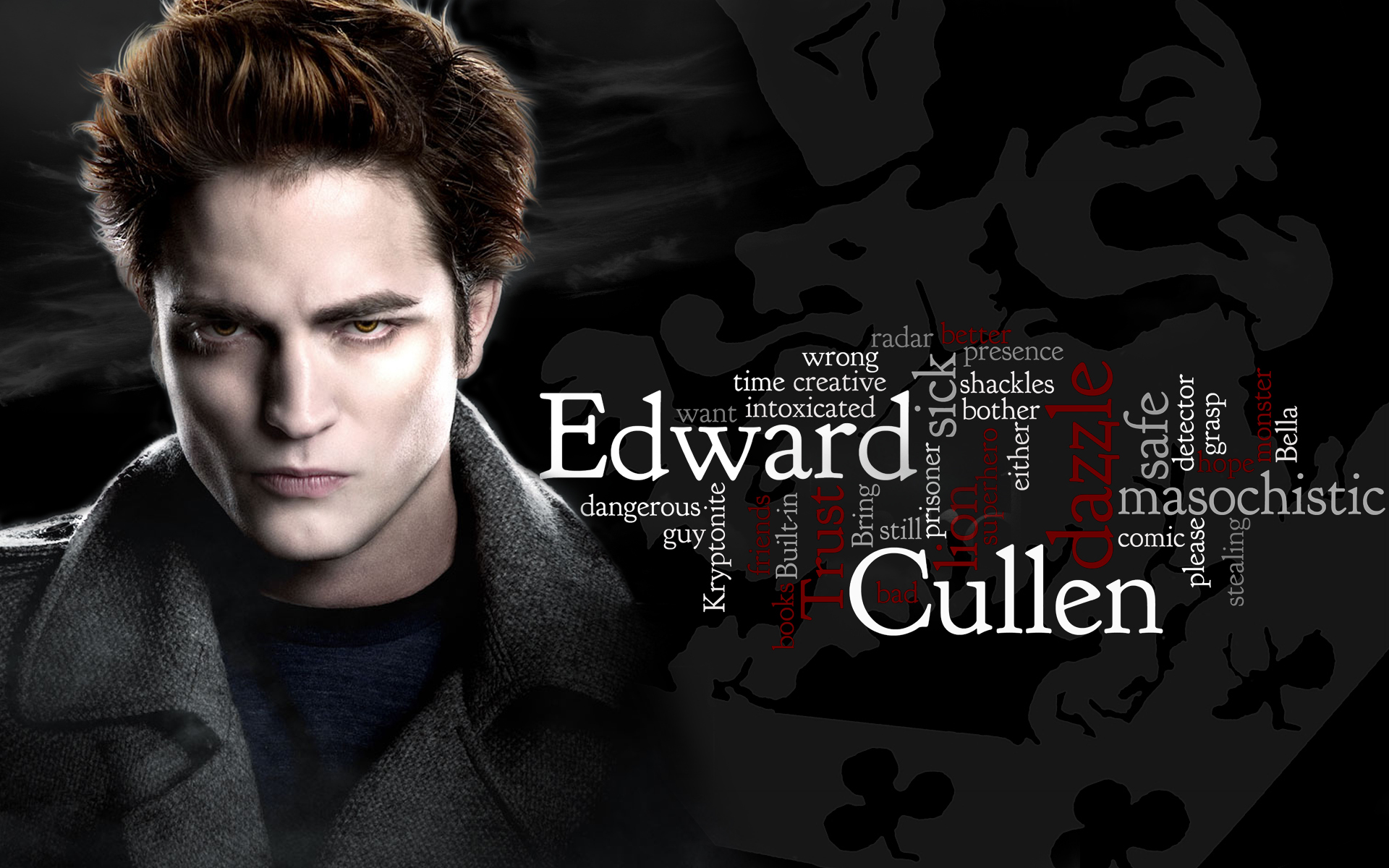 edward cullen words text HD Wallpaper