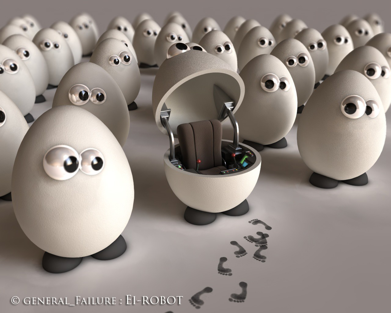 eggs robot HD Wallpaper
