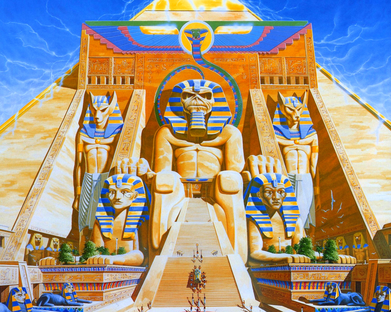 Egypt iron maiden Eddie HD Wallpaper