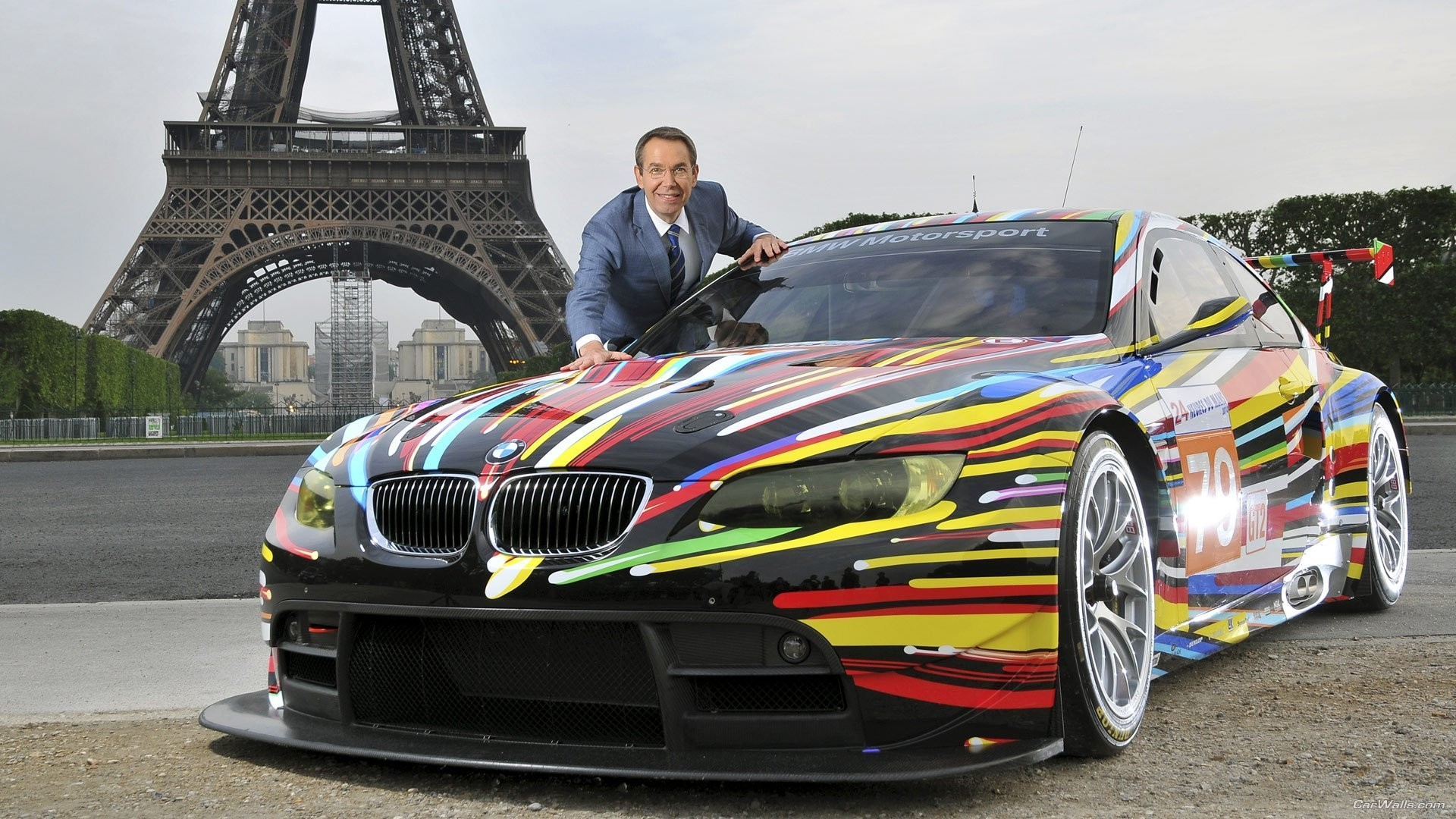 Eiffel Tower cars bmw HD Wallpaper