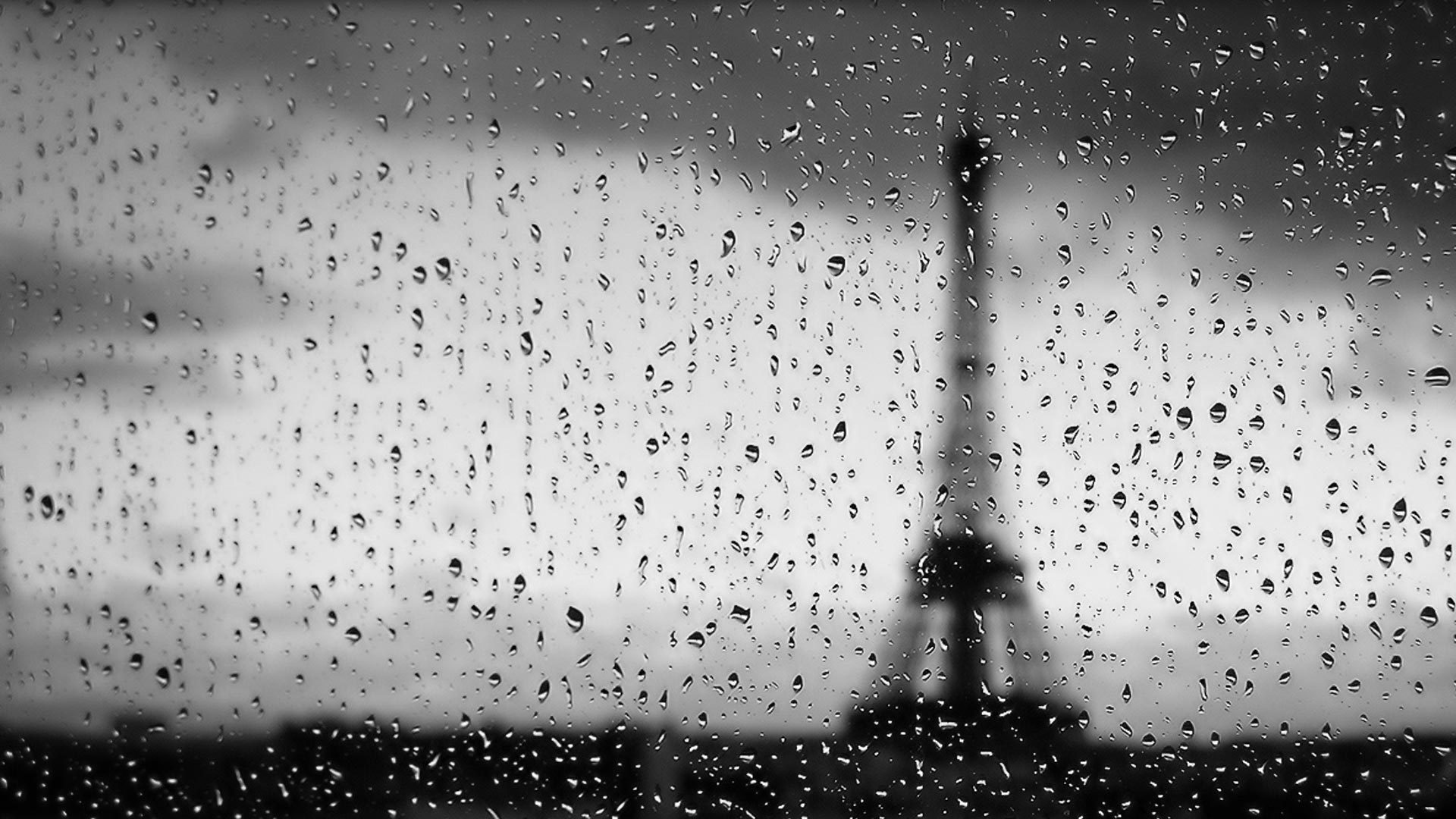 Eiffel Tower Paris rain HD Wallpaper