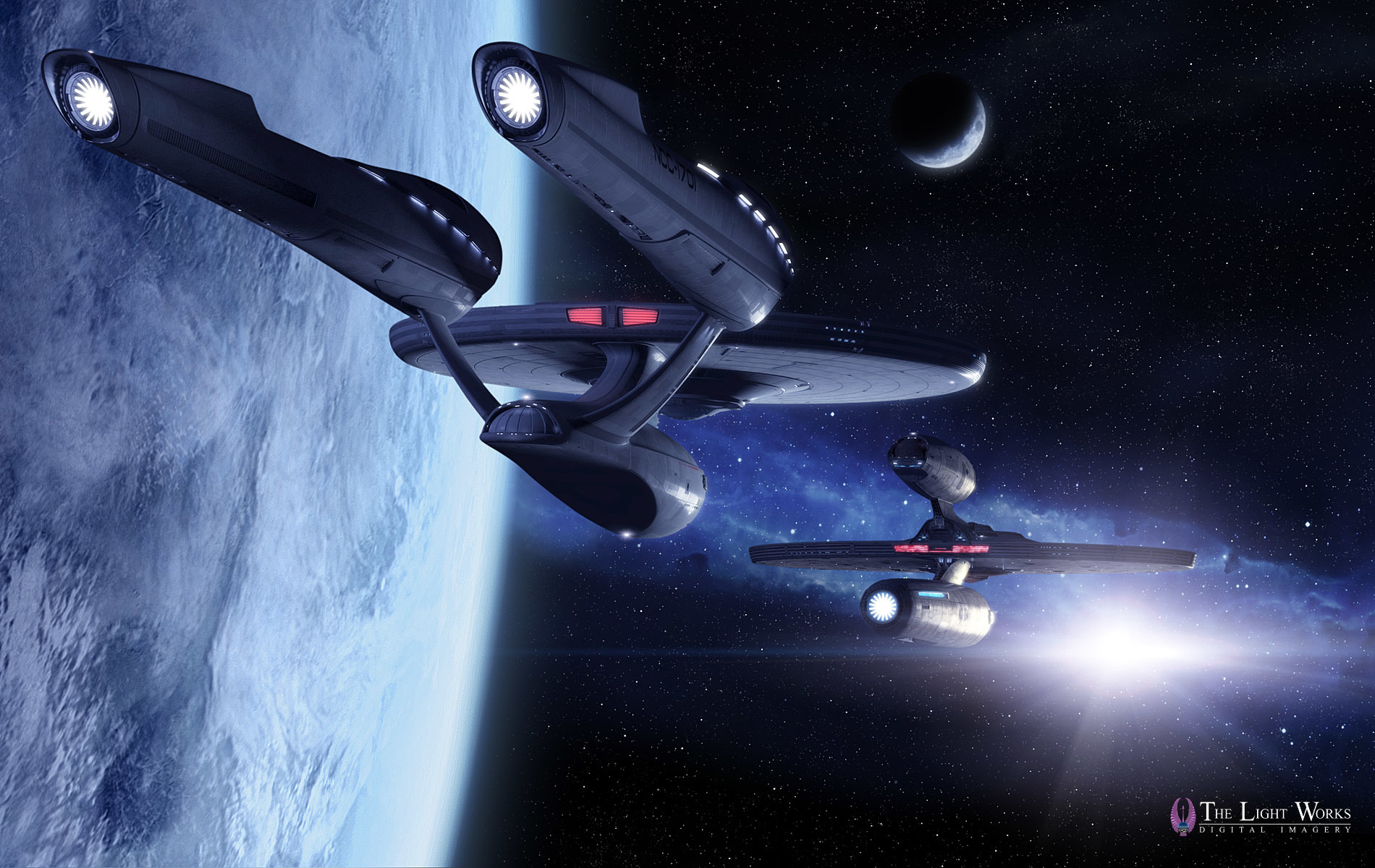 Enterprise high HD Wallpaper