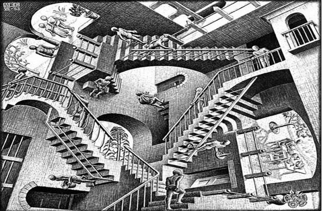 the genius of mc escher essay I've been involved with mc escher's work for the past several years i don't mean i've seen his work and looked at it periodically over that time i mean i'm immersed in his genius and creativity everyday, and almost everyday there are new discoveries.