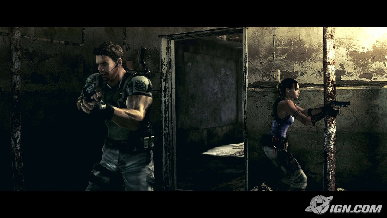 evil Chris redfield Sheva HD Wallpaper