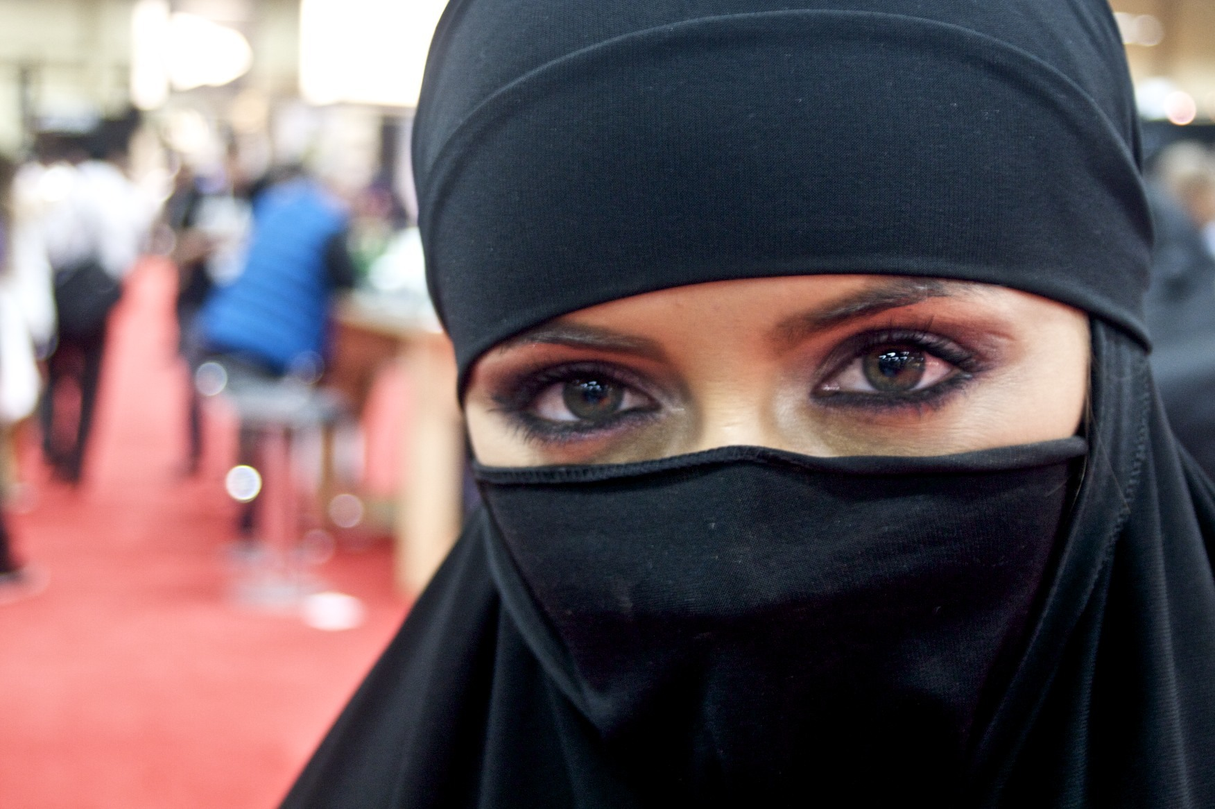 eyes Muslim Islam veil HD Wallpaper