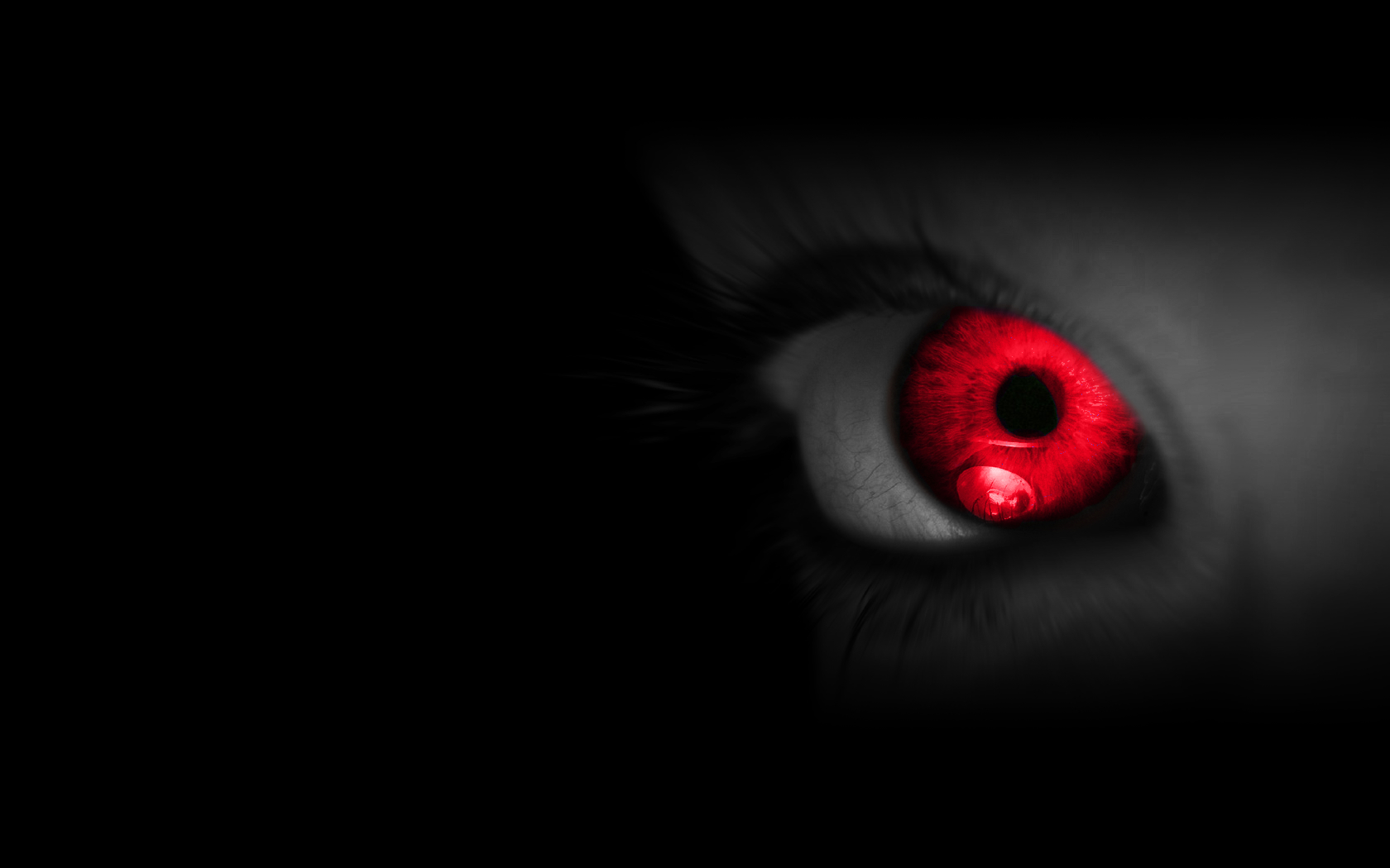 eyes red selective coloring HD Wallpaper