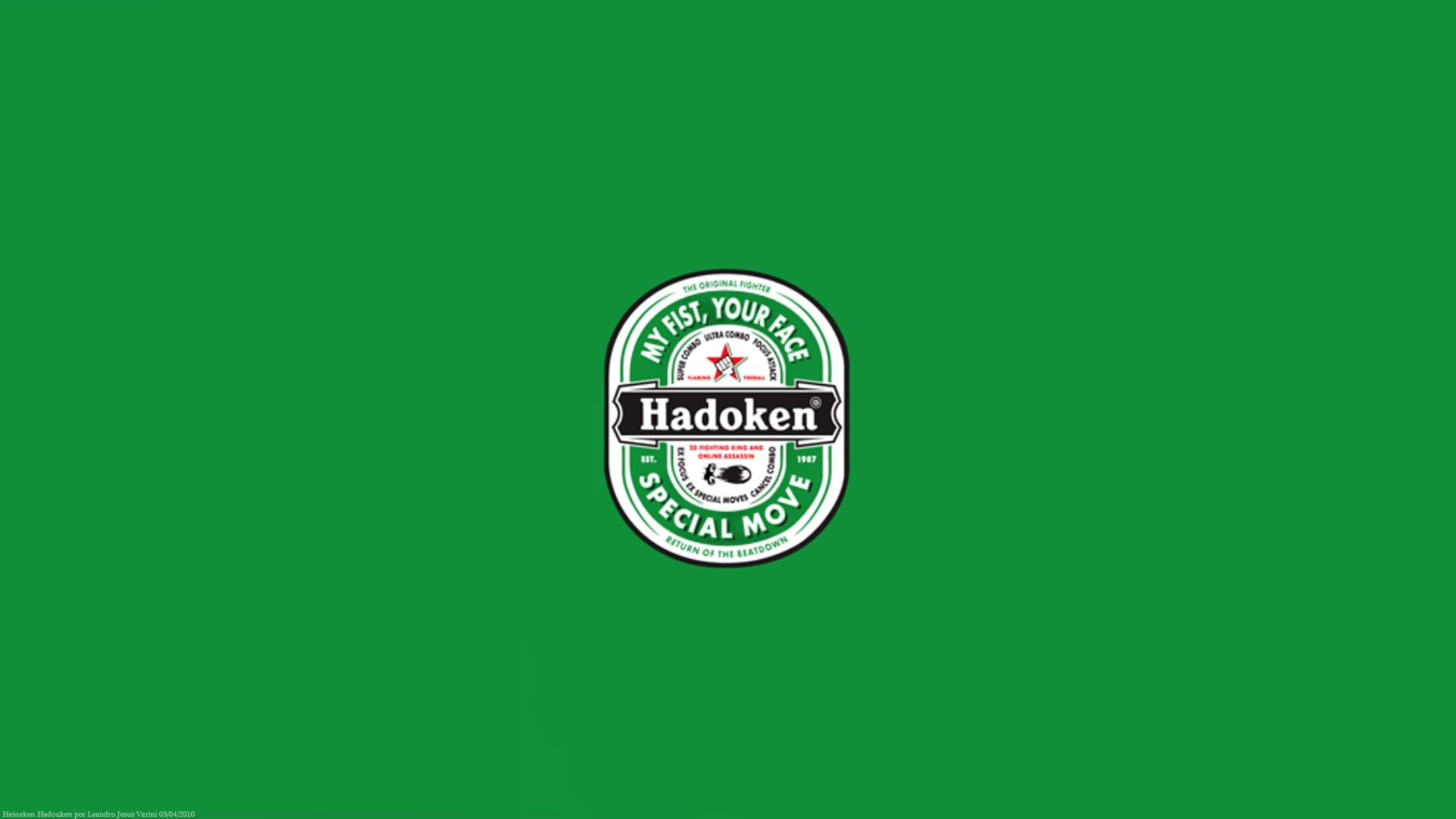 fake street fighter heineken HD Wallpaper