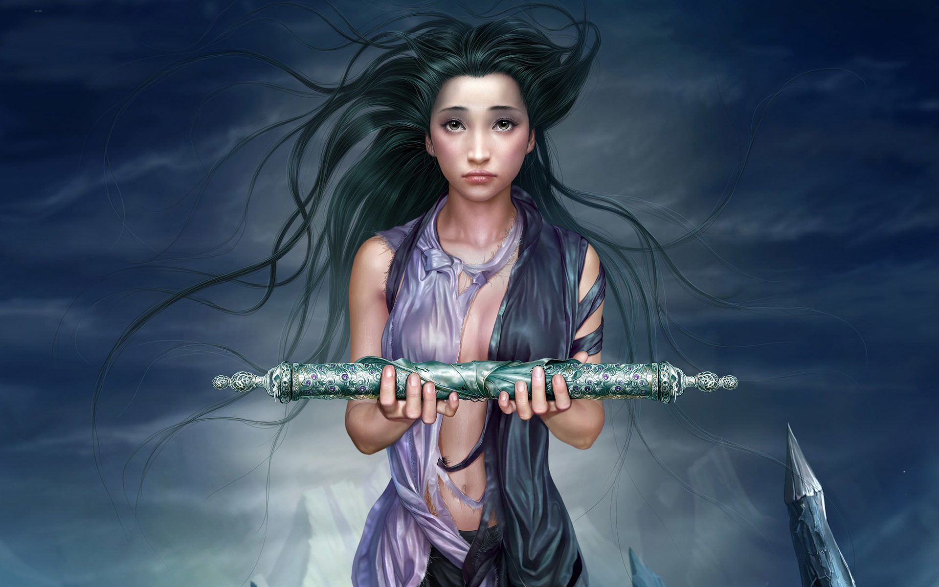 fantasy art asians Yuehui HD Wallpaper
