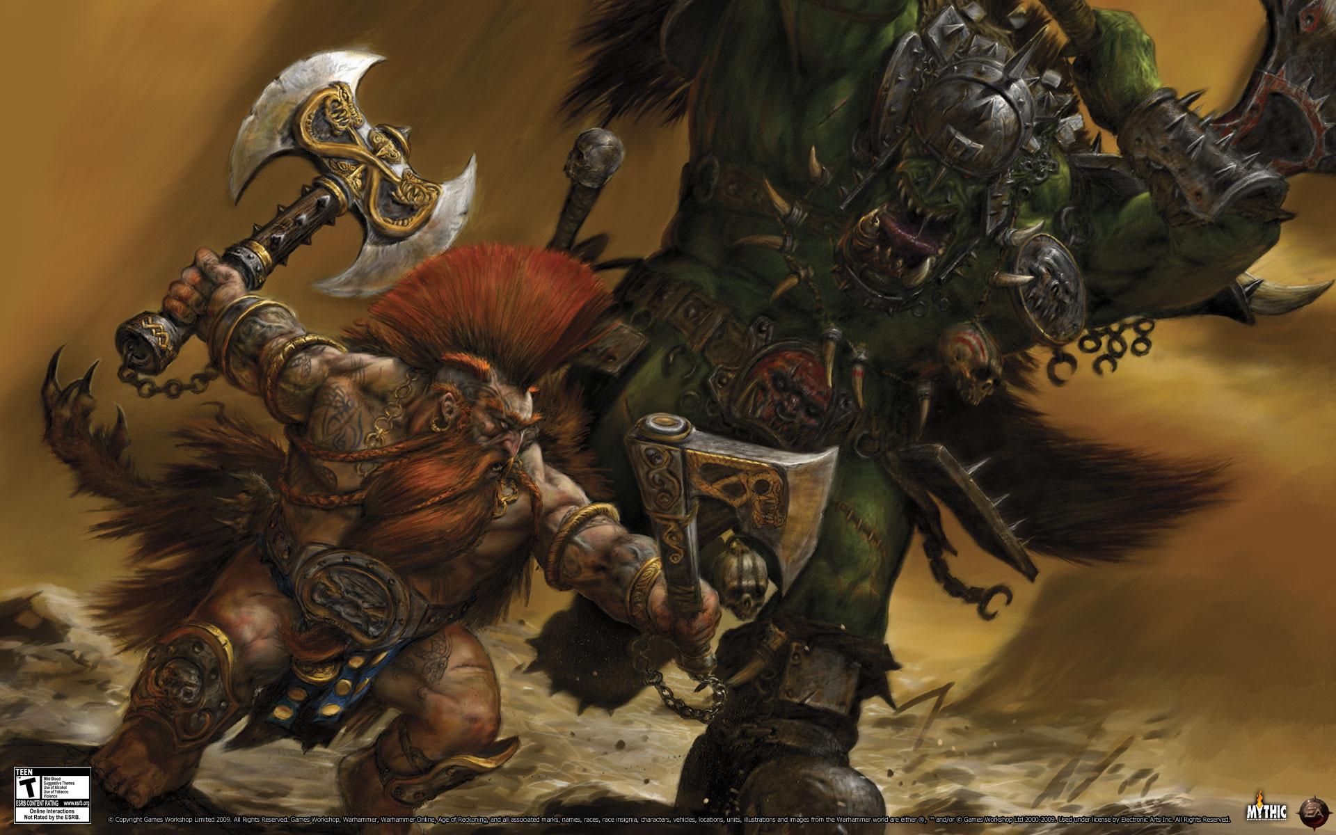 fantasy art dwarfs orc